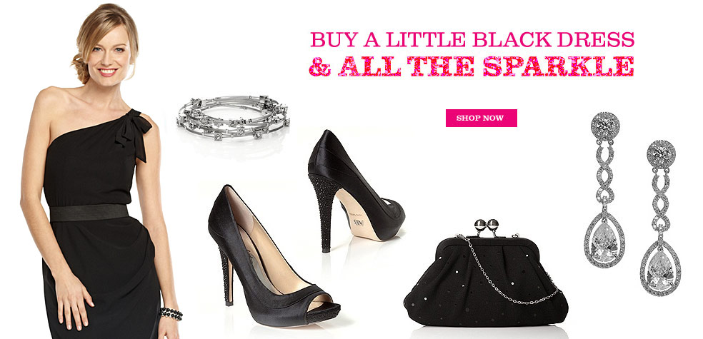 Shop Little Black Dresses & All The Sparkle